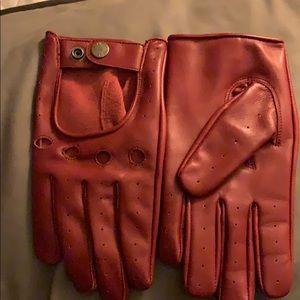 Bullitt - Burgundy Red Leather Gloves